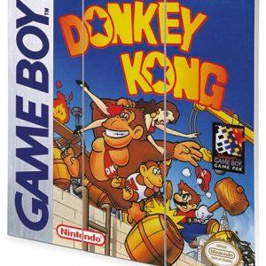 Super Mario Donkey Kong – Game Boy Cover Wooden Wall Art Multicolour