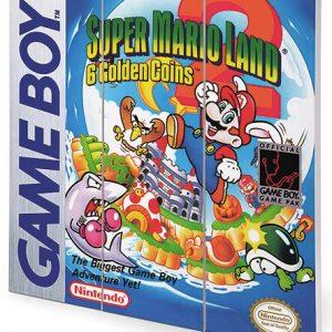 Super Mario Super Mario Land 2 – Game Boy Cover Wooden Wall Art Multicolour