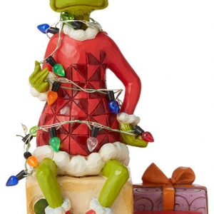 The Grinch Grinch With String Of Lights N Collection Figures Multicolor