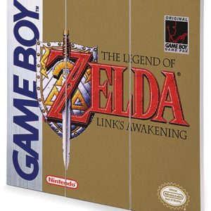 The Legend Of Zelda Game Boy Cover Wooden Wall Art Multicolour